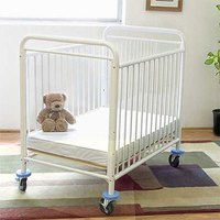 L.A. Baby CS-8510 24 inch x 38 inch Condo Window Evacuation Window Crib with 3 inch Fire Retardant Mattress