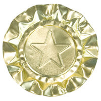 Disposable Aluminum Foil Ash Tray 250 / Box - Gold Star Design
