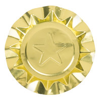 4 1/8 inch Disposable Aluminum Foil Ashtray with Gold Star Design - 250 / Box