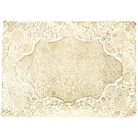 10 inch x 14 inch Gold Foil Lace Doily - 1000/Case