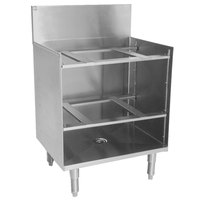 Eagle Group GR24-19 Spec-Bar 24 inch x 19 inch Stainless Steel Glass Rack Storage Unit with Shelves
