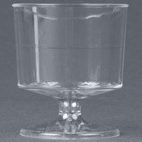 WNA Comet CCW2240 Classicware 2 oz. Clear Plastic Pedestal Wine Cup - 10 / Pack