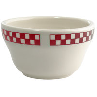 Homer Laughlin 1015413 Scarlet Checkers 7.25 oz. Ivory (American White) Unhandled Bouillon Cup - 36/Case