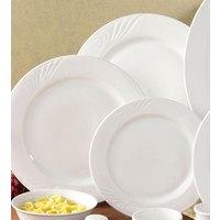 CAC RSV-7 Roosevelt 7 1/4 inch Super White Porcelain Plate - 36/Case
