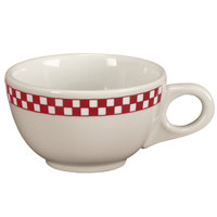 Homer Laughlin 1055413 Scarlet Checkers 7.75 oz. Ivory (American White) Boston Cup - 36/Case