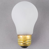 Satco S4880 25 Watt Frosted Shatterproof Finish Incandescent Rough Service Light Bulb - 130V (A15)