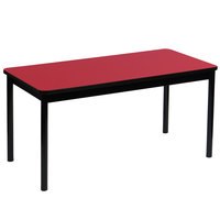 Correll LR2448-35 24 inch x 48 inch Red Library Table - 29 inch Height
