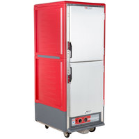 Metro C539-HDS-4 C5 3 Series Heated Holding Cabinet with Solid Dutch Doors - Red