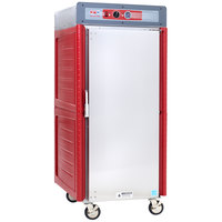 Metro C549X-ASFS-U Insulated Stainless Steel Full Height Hot Holding Cabinet with Solid Door and Universal Slides - 220/240V, 1360W