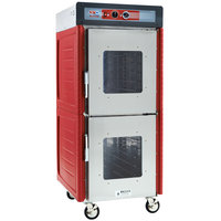 Metro C549-ASDC-U Insulated Stainless Steel Full Height Hot Holding Cabinet with Clear Dutch Doors and Universal Slides - 120V, 1360W