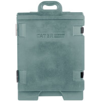 CaterGator 16 3/4 inch x 24 inch x 25 inch Slate Blue Front Loading Insulated Food Pan Carrier