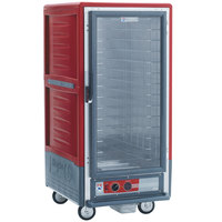 Metro C537-HFC-4 C5 3 Series Heated Holding Cabinet with Clear Door - Red