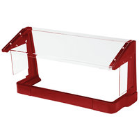Cambro FSG720158 6' Hot Red Free-Standing Sneeze Guard