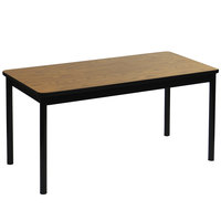 Correll LR3048-06 30 inch x 48 inch Medium Oak Library Table - 29 inch Height