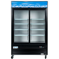 Avantco GDS47-HC 53 inch Black Sliding Glass Door Merchandiser Refrigerator with LED Lighting