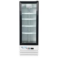 Avantco GDC-10-HC 21 5/8 inch White Swing Glass Door Merchandiser Refrigerator with LED Lighting - 8.6 Cu. Ft.
