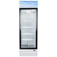 Avantco GDC15-HC 25 5/8 inch White Swing Glass Door Merchandiser Refrigerator with LED Lighting - 13.3 cu. ft.