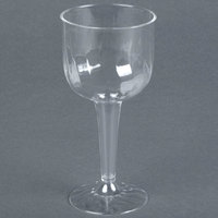 Fineline Flairware 2209 8 oz. Clear 1 Piece Plastic Wine Goblet - 96 / Case