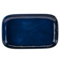 GET CS-117-CSB Cosmo 12 inch x 7 1/2 inch Blue Melamine Irregular Rectangular Platter - 12/Case