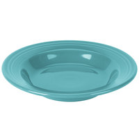 Homer Laughlin 451107 Fiesta Turquoise 13.25 oz. Rim Soup Bowl - 12/Case