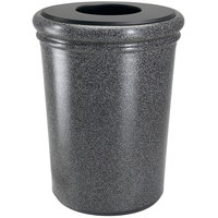 Commercial Zone 720919 StoneTec 50 Gallon Pepperstone Round Stone Trash Receptacle with Lid
