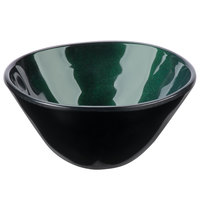 GET B-8-CSG Cosmo 8 oz. Green Melamine Irregular Round Bowl - 24/Case