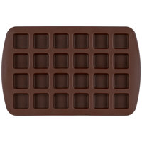 Wilton 2105-4923 Silicone 24-Compartment Square Bite-Size Brownie / Treat Mold