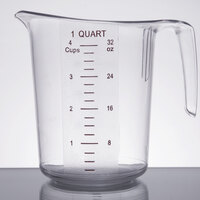 1 Qt. Clear Plastic Measuring Cup