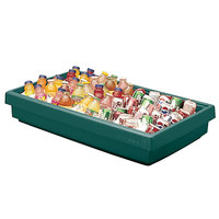 Cambro BUF48 42 inch x 24 inch x 7 inch Green Buffet Bar Base