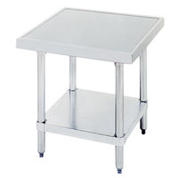 Advance Tabco SAG-MT-242 24 inch x 24 inch Stainless Steel Mixer Table with Stainless Steel Undershelf