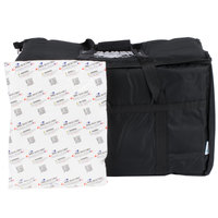 Choice 23 inch x 13 inch x 15 inch Black Insulated Nylon Food Delivery Bag / Pan Carrier with Microcore Thermal Hot or Cold Pack Kit