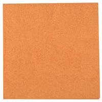 Creative Converting 323381 Pumpkin Spice Orange 2-Ply Beverage Napkin - 50/Pack