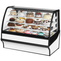 True TDM-R-59-GE/GE 59 inch White Curved Glass Refrigerated Bakery Display Case