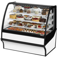 True TDM-R-48-GE/GE 48 inch White Curved Glass Refrigerated Bakery Display Case