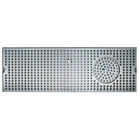 Micro Matic DP-120D-24GR 5 inch x 24 inch Stainless Steel Surface Mount Drip Tray with Glass Rinser