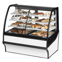 True TDM-DZ-48-GE/GE 48 inch White Curved Glass Dual Dry / Refrigerated Bakery Display Case