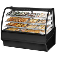 True TDM-DC-59-GE/GE 59 inch Black Curved Glass Dry Bakery Display Case