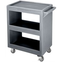 Cambro BC230191 Granite Gray Three Shelf Service Cart - 33 1/4 inch x 20 inch x 34 5/8 inch