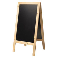 American Metalcraft Securit SBSB135 A-Frame Sign Board 30 inch x 54 inch Natural Finish
