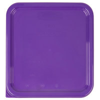 Rubbermaid 1980304 Color-Coded 2, 4, 6, and 8 Qt. Purple Square Food Storage Container Lid