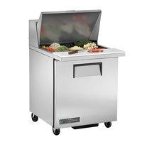 True TSSU-27-12M-B-HC LH 27 inch Mega Top Sandwich / Salad Prep Refrigerator with Left Hinged Door