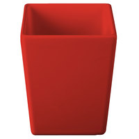 Tablecraft CW4012R Contemporary Collection Red 1.5 Qt. Straight Sided Bowl