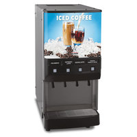 Bunn JDF-4S 4 Flavor Cold Beverage Iced Coffee Dispenser with Cold Water Tap - 120V (Bunn 37300.0016)