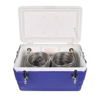 Micro Matic CB482B Blue 2 Faucet 48 qt. Insulated Jockey Box with 100 ft. Coils