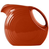Homer Laughlin 484334 Fiesta Paprika 2.1 Qt. Large Disc Pitcher - 2/Case