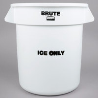 Rubbermaid FG9F8600WHT 10 Gallon White ICE ONLY Brute Container