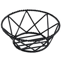 GET 4-31433 8 inch Round Black Iron Powder Coated Braided Basket