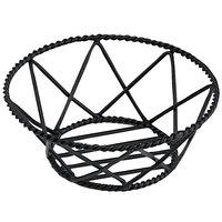 GET 4-31433 8 inch Round Black Iron Powder Coated Braided Basket