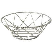 GET 4-81433 8 inch Round Stainless Steel Braided Basket