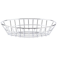 GET 4-20144 9 3/4 inch x 6 1/4 inch Chrome Oval Grid Basket